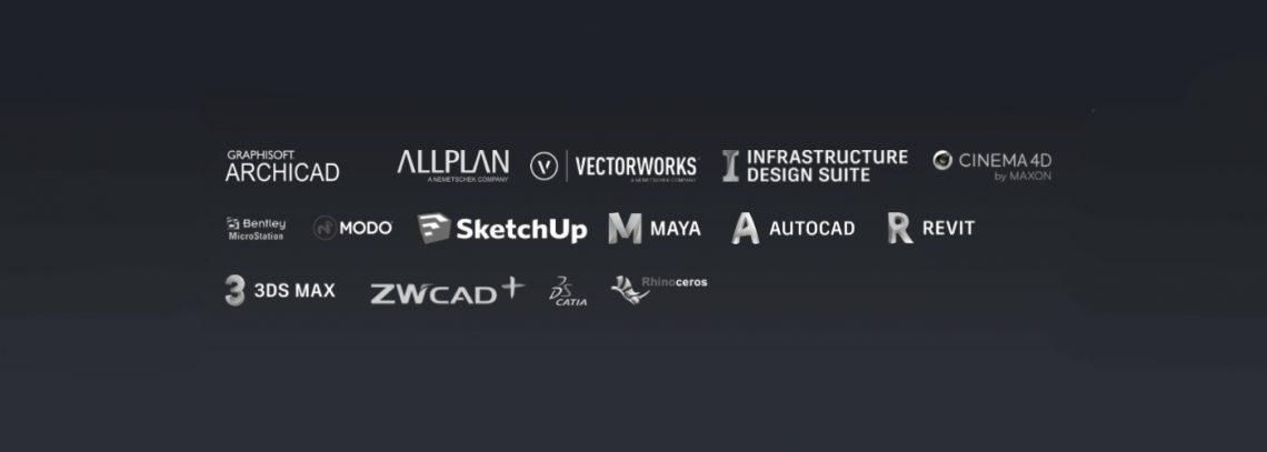 O Twinmotion é compatível com a maioria dos modeladores disponiveis no mercado.
